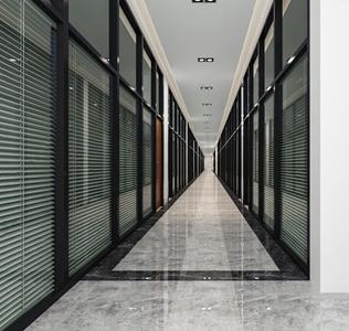 現代走廊 現代其他 辦公室走廊 百葉窗