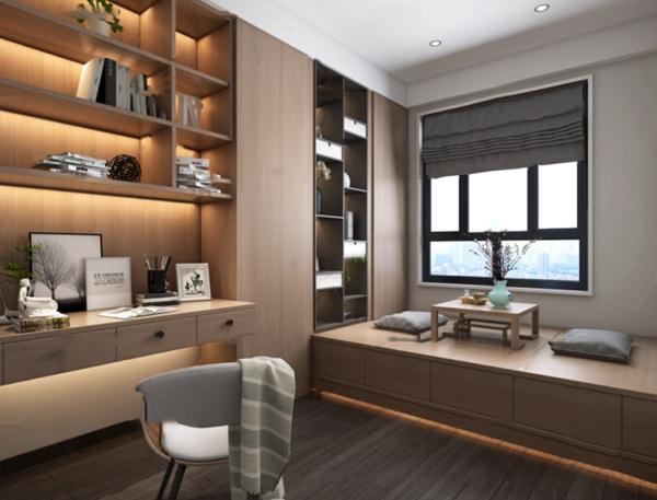 现代榻榻米书房3d模型