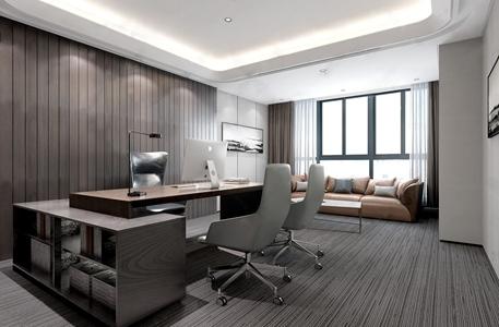 现代总经理办公室 现代办公室 办公桌 办公椅 多人沙发 茶几