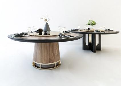 现代餐桌餐具 现代餐桌 餐具 桌椅