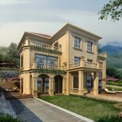 欧式别墅外观3D模型