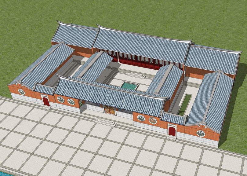 闽南古建筑SU模型