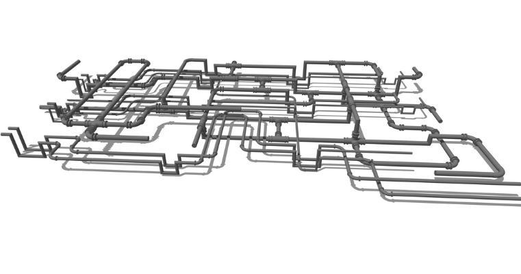 工业管道SU模型