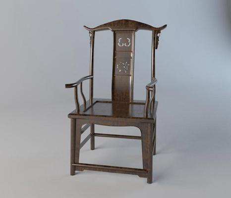 第二季模型套装(国外单体)新中式椅子1古典 雕花 新中式 椅子 复古 原木 单体 太师椅 国外