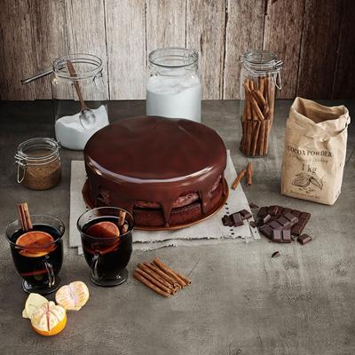 现代巧克力蛋糕饮料组合3D模型