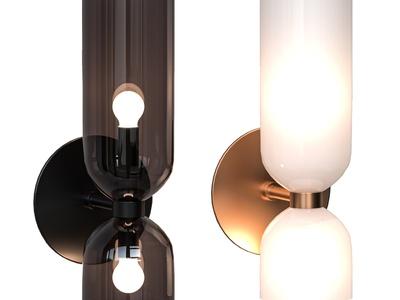 現代玻璃壁燈3d模型