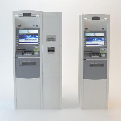 现代银行ATM存取款机3D模型