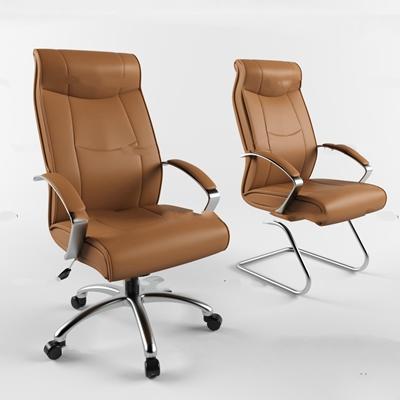 现代皮革办公椅3D模型