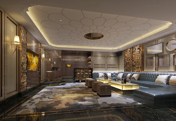 现代酒店ktv包房