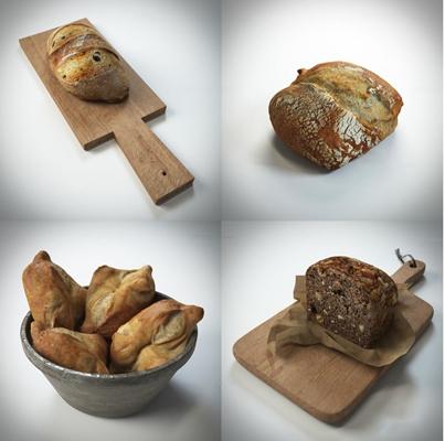 现代食物面包3D模型
