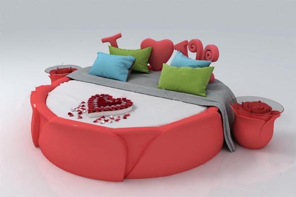 圆床 3D模型