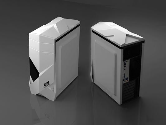 现代电脑主机箱3D模型