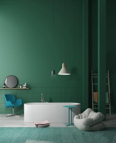 北欧浴缸单椅吊灯组合3d模型