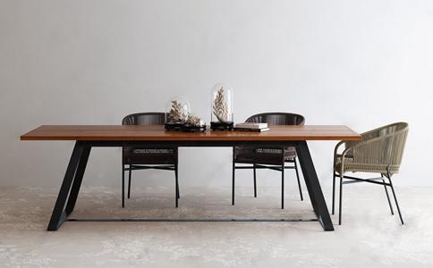 北欧户外编织桌椅 北欧户外椅 桌椅 编织椅 饰品 摆件 长桌子 实木桌子 铁艺桌子