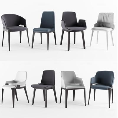 北欧休闲单椅组合3d模型
