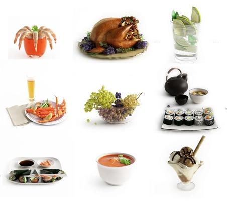 现代精品食物组合3d模型
