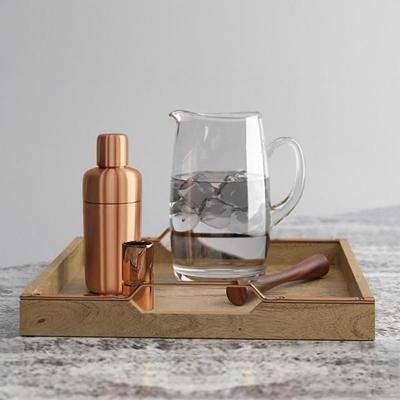 现代餐盘酒水饮料3D模型
