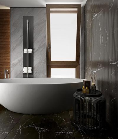 现代浴缸圆几摆件组合3D模型
