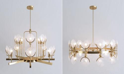 现代时尚金属水晶吊灯组合 现代吊灯 多头吊灯 金属吊灯 水晶吊灯