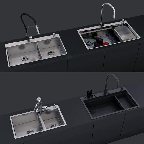现代水槽水龙头3d模型