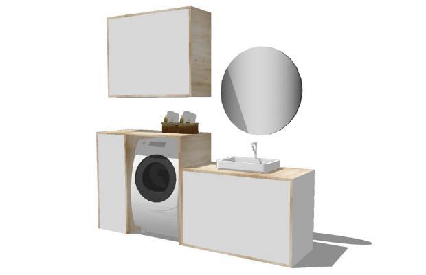 浴室柜SU模型