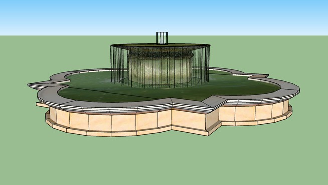 vatican。在庭院的喷泉观景台 建筑 室外 盆 喷泉 水坝
