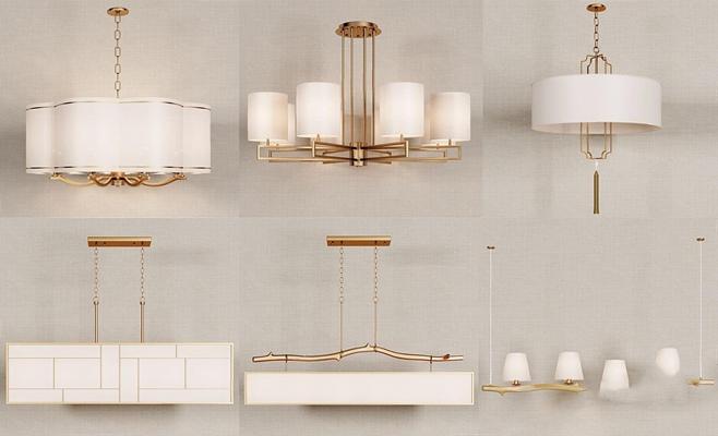 新中式金屬吊燈組合 新中式吊燈 金屬吊燈 吊燈組合