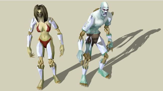 魔兽世界利刃����_魔兽世界-洛肯和ThorimSU模型【ID:840183002】_【3d侠模型网】