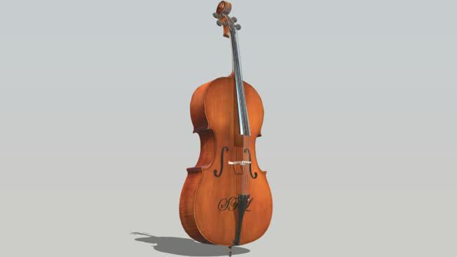 三维的大提琴 大提琴 小提琴