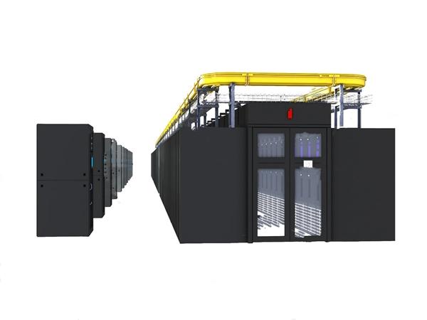 现代服务器机柜3d模型