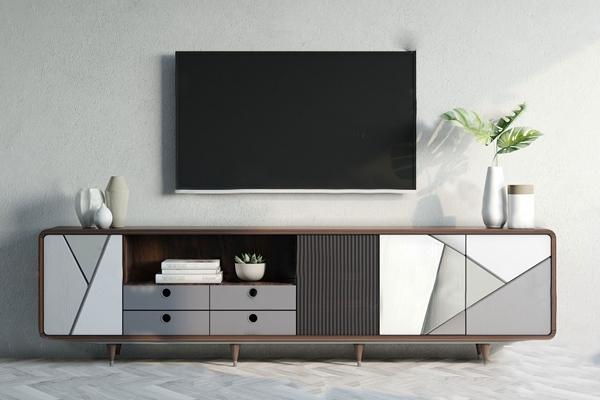 現代電視柜3D模型