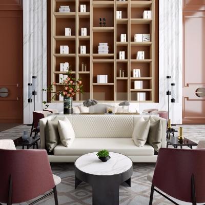 上上国际设计现代售楼处休闲区3D模型