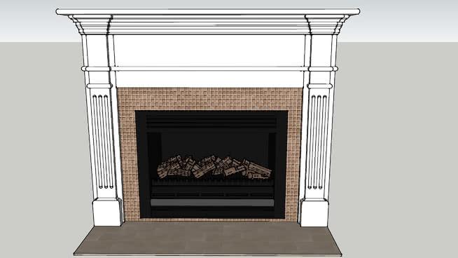 煤气壁炉2 壁炉 火炉 镜子