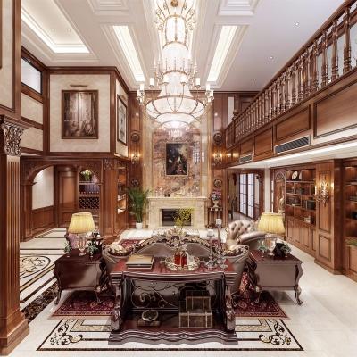 美式奢华别墅客餐厅3d模型