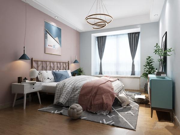 北欧轻奢卧室女孩房3d模型