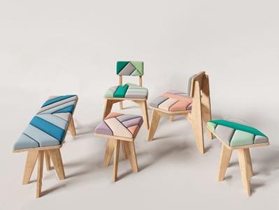 北欧儿童椅坐凳 北欧儿童椅 儿童凳子