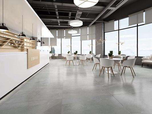 现代咖啡厅 现代咖啡厅 收银台 餐桌椅 吊灯 点餐台 壁柜