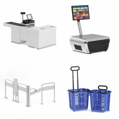 超市收银台电子秤拉车护栏 现代其他器材 超市收银台电子秤 拉车 护栏 篮子