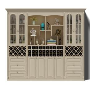 简欧酒柜摆件组合3D模型