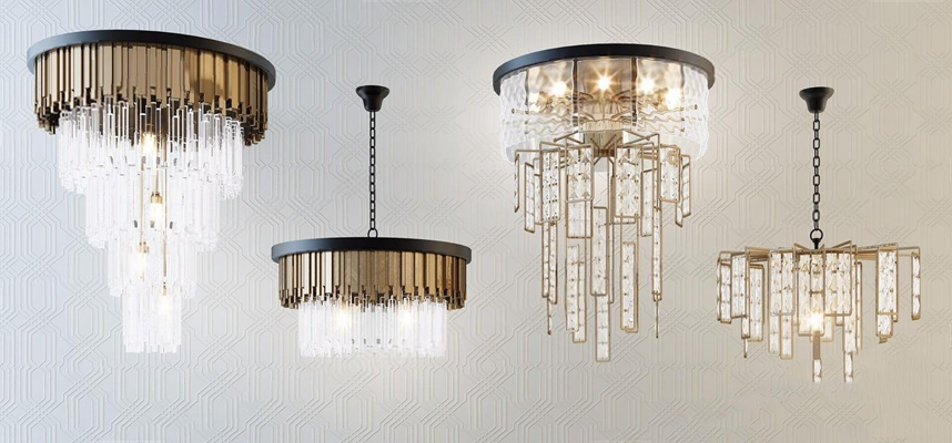 现代时尚金属水晶灯组合 现代吊灯 时尚 金属 水晶灯 组合