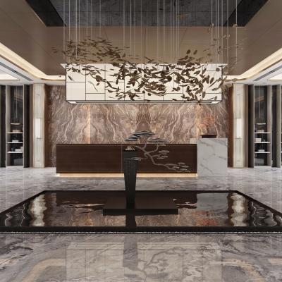 新中式售楼大厅3D模型