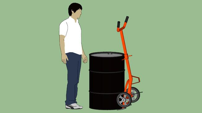工业系列-设备-集装箱-鼓WESCO 10BT鼓车-拾取模式 画笔(刷) 手推车 包 箱包 水桶