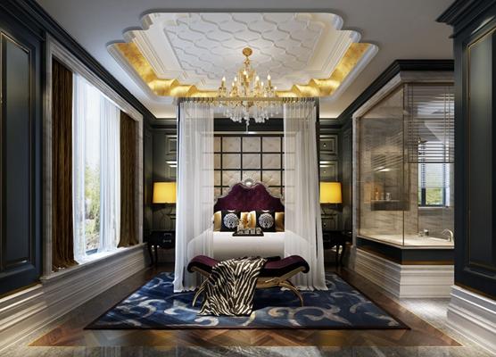 白色布艺床幔