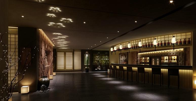 日式日式餐廳 棕色陶藝大花瓶