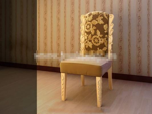 新中式布艺餐椅