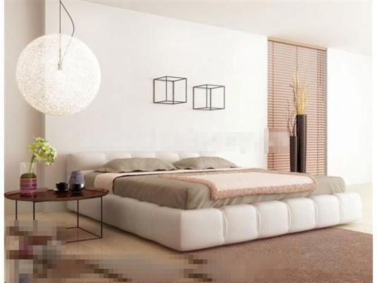 现代布艺床具组合