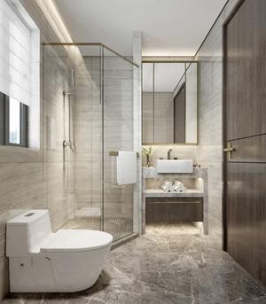 現代衛生間 現代衛浴 馬桶 臺盆 淋浴間