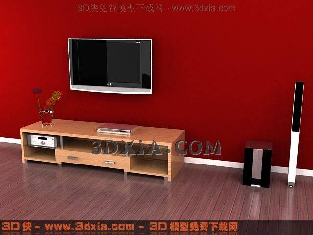 电视柜3D模型下载-3DMAX812