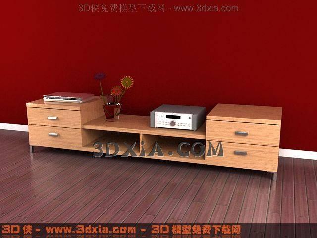 电视柜3D模型下载-3DMAX813