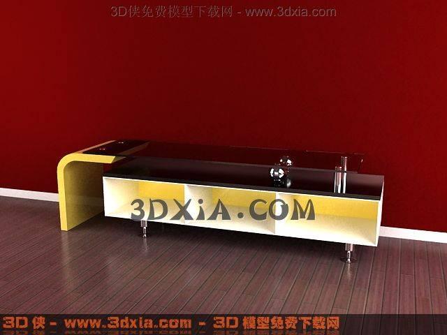 电视柜3D模型下载-3DMAX817
